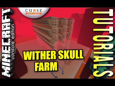 Minecraft PS4 - WITHER SKULL FARM - Tutorial ( PE / PS3 / XBOX / WII U )