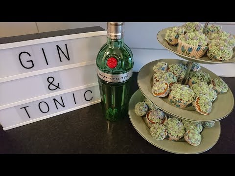 How To Make Gin and Tonic (with a splash of lime) Cupcakes!