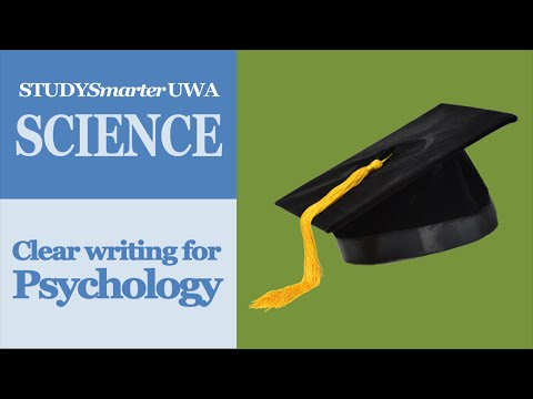 Writing better Psychology assignments at UWA: clear sentences and paragraphs
