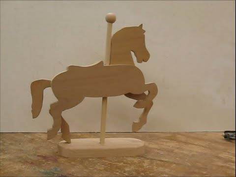 Carousel pony on a stand