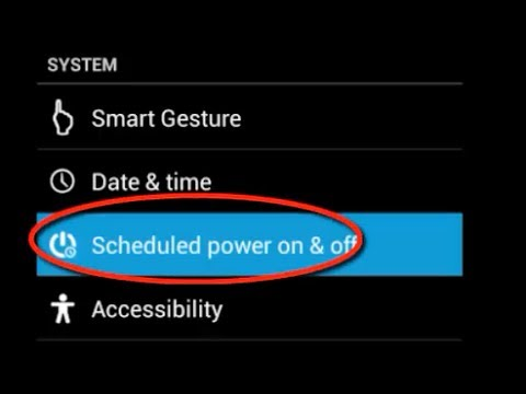 How To Schedule power on / off in android mobile phone (Settings)