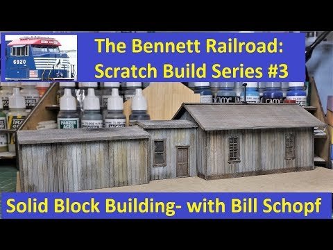 Scratch Build #3:  How to Use Solid Wood Blocks for Buildings