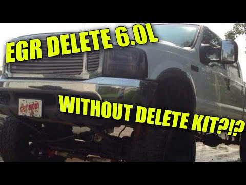 EGR delete tutorial for a 6.0L Powerstroke