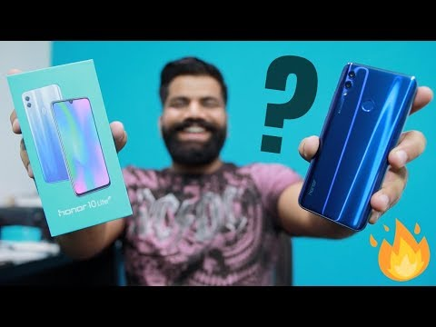Honor 10 Lite Unboxing & First Look - AI Camera, DewDrop Notch & more   🔥🔥🔥