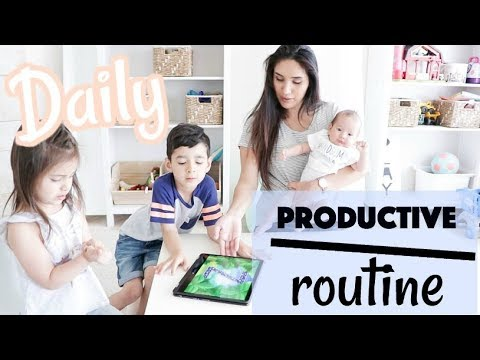 My Daily Productive Routine | Mom of 3