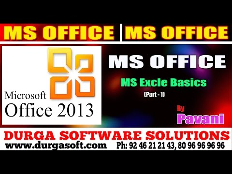 MS office Tutorial || Ms Excle Basics Part- 1 by Pavani