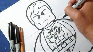 Como Dibujar A Superman Lego How To Draw Superman