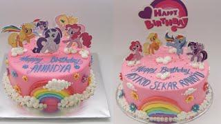 Dekorasi Kue Ulang Tahun Kuda Poni Cake Little Pony Buttercream