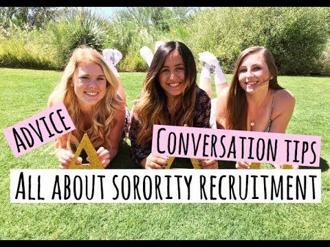SORORITY RUSH ADVICE, OUTFITS, CONVERSATION STARTERS and more ♡