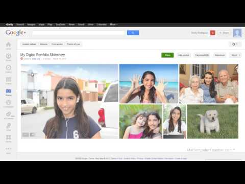 How to add a Photo Slideshow using Google Plus in Google Sites - Video #6B of the MCT DP Series