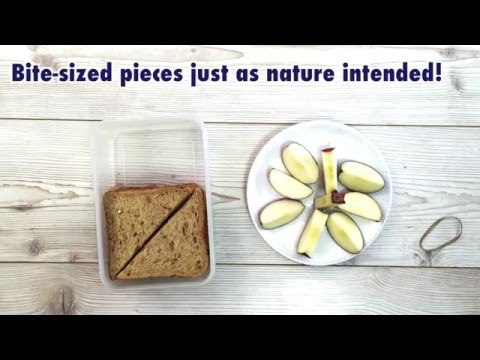 How to pack bite size apple pieces in a lunchbox without browning - the rubber band method