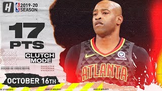 Vince Carter VINTAGE MODE! Full Highlights Hawks vs Knicks 2019.10.16 - 17 Points, CLUTCH!