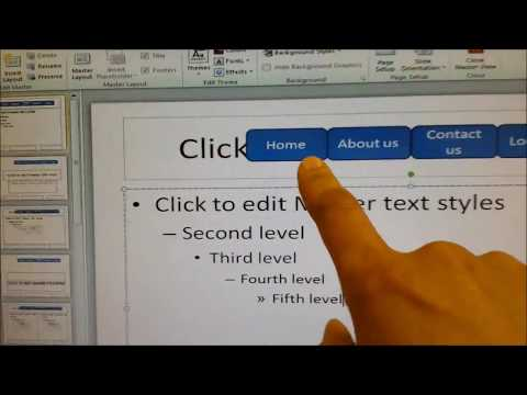 Top Tip No 5 Navigation Bar In Powerpoint