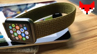 8046d16496e11c Apple Watch Band Olive Flak Nike Sport Loop  4K
