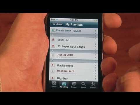 Offline Playback for Rhapsody iPhone App