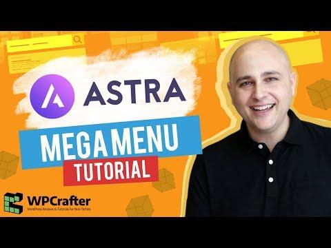 How To Add A Mega Menu To Astra Theme Tutorial