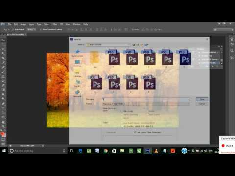 Batch Process Action in PhotoshopCS6: Save Multiple PSD files into JPG in Few Minutes