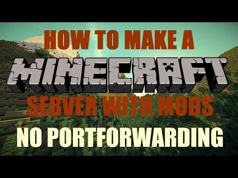 How To Make A Minecraft Server With Mods 1.12.2 NO PORTFORWARDING [2018] [TUTORIAL]