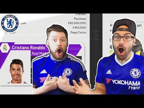 HOLY SH*T RONALDO ACCEPTS CHELSEA! Chelsea Fifa 16 Career Mode Co-op #02