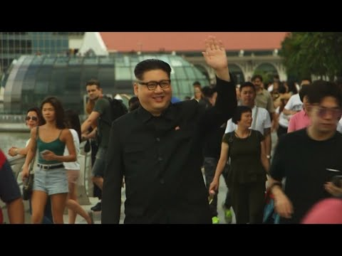 Kim Jong-un impersonator roams Singapore streets