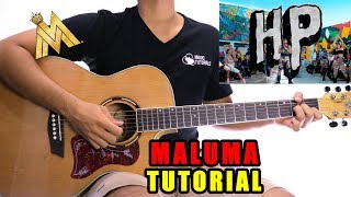 Cómo tocar HP de Maluma en Guitarra   Tutorial + PDF GRATIS
