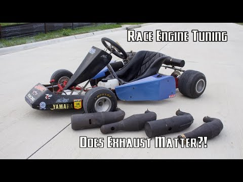2-Stroke Racing Go Kart Expansion Pipe Shootout!