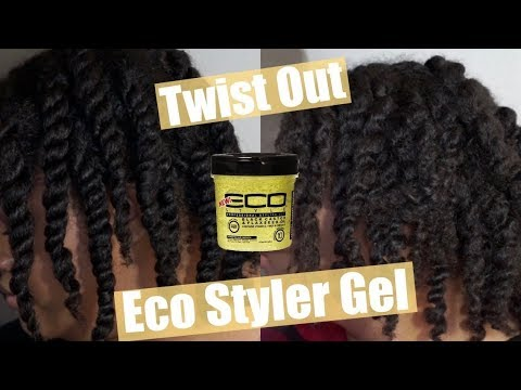 Twist Out Using Eco Styler Black Castor + Flaxseed Oil Gel