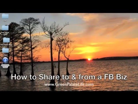 How to Share Posts to and from a Facebook Business Page