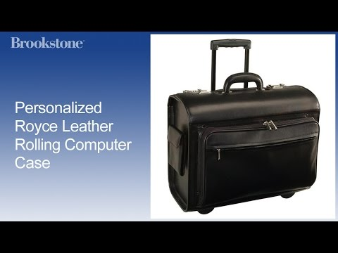 Personalized Royce Leather Rolling Computer Case
