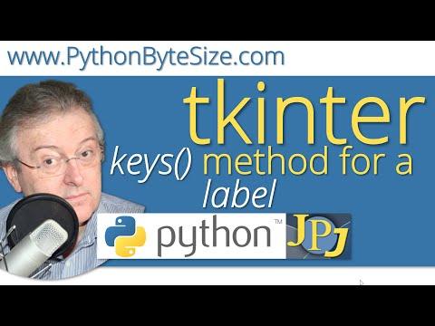 The Python tkinter keys() method for a label