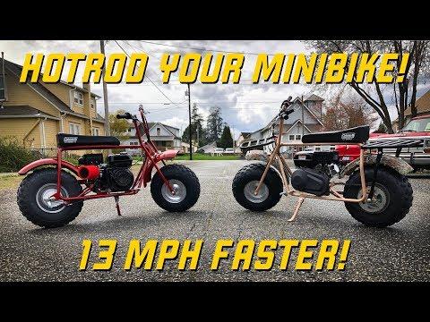 HOTROD Your Coleman Mini Bike!  13 MPH Speed Gain!