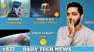 Realme X Shocking !,PUBG 0.12.5 Season 7,Samsung vs Oneplus,People In Space,Infinix S4,A13 Chip #837