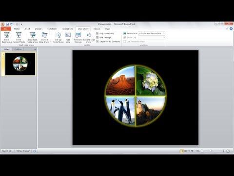 Tutorial powerpoint 2010 |Cara Memotong Shape Anda Sendiri dan Insert Gambar di Microsoft Powerpoint