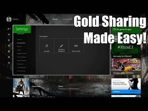 How to Set Up Game Sharing & Gold Sharing on Xbox One!