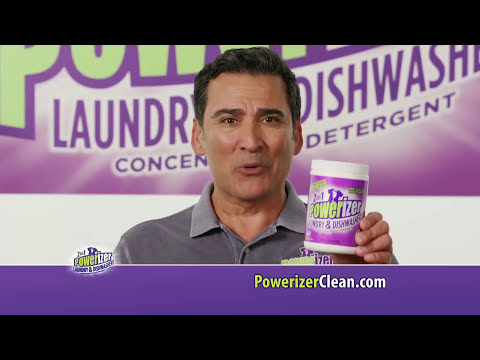 Powerizer Concentrated Complete 2-In-1 Detergent Dishwasher Laundry & Stain Remover