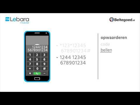 Lebara opwaarderen - Instructies Beltegoed.nl