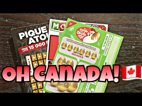 WINNER! SWEET CANADIAN Lottery Scratch Off Tickets