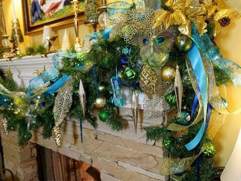 Holiday Peacock Mantel | Inspiration Recreation for Less