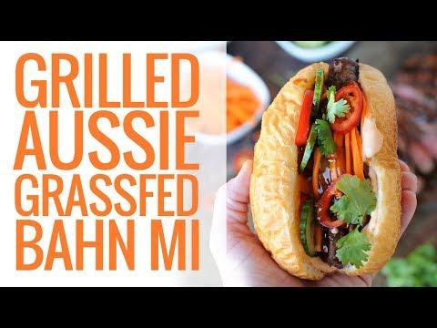 Grilled Aussie Grassfed Beef Banh Mi Sandwich