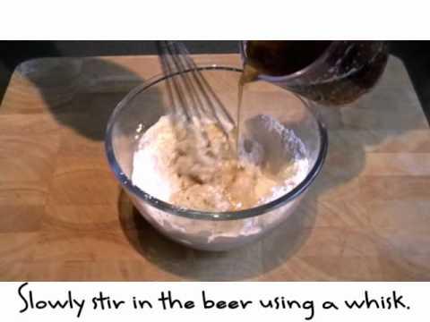 Making beer batter
