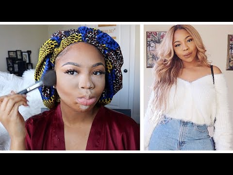 3-IN-1 GRWM!!! MakeUp, Hair & Outfits ft UNice Hair