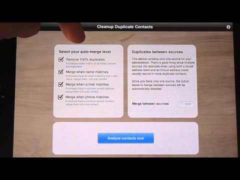 Cleanup Duplicates Contacts App Review iPhone, iPad and iPod Touch!