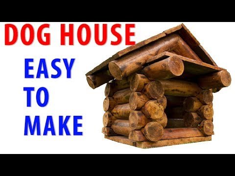 EASY to make DOG HOUSE form WOOD SLICES and WOODLOGS ; MILIC DIY