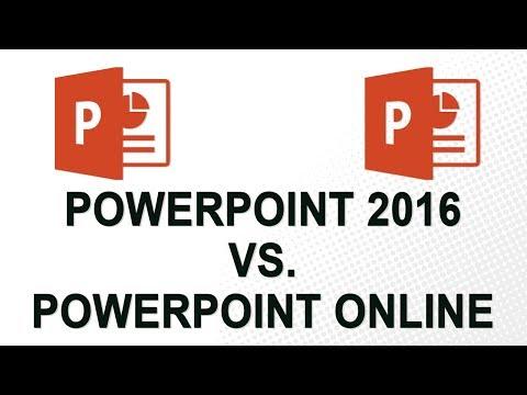 PowerPoint 2016 vs. PowerPoint Online (2018)