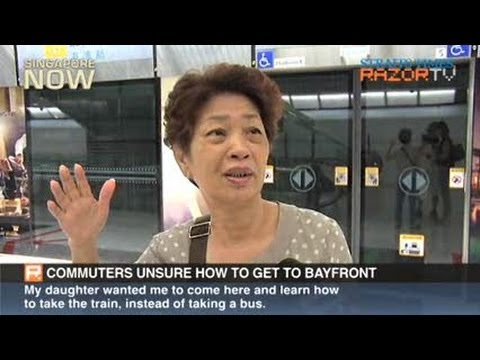 Commuters unsure how to get to Bayfront (Bayfront MRT Station opens Pt 2)