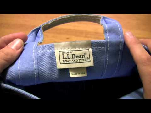 LL Bean canvas Boat and Tote - small - Made in USA