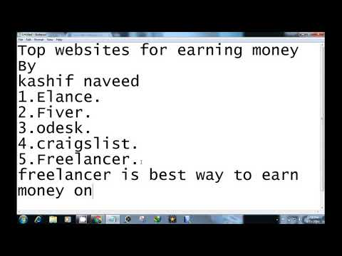 Top sites for earning money 2017$$$