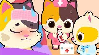 Mommy Cat Got Sick   Kitten Doctor   Sick Song   Nursery Rhymes   Kids Songs   Baby Cartoon  BabyBus