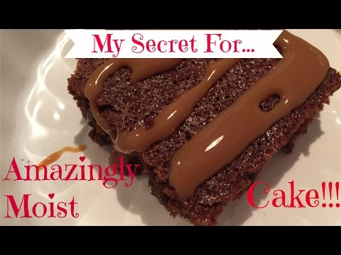 Secret to AMAZINGLY MOIST Cake Without Simple Syrup!
