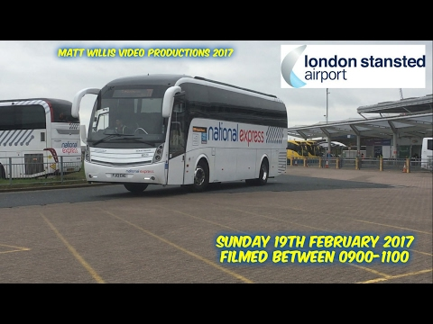 A FEW MINUTES AT LONDON STANSTED BUS STATION, SUN 19TH FEBRUARY 2017